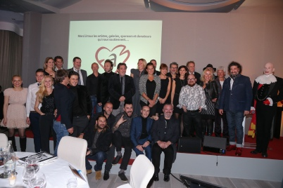Princess Stephanie surrounded by artists and donors at the annual live auction @FAM