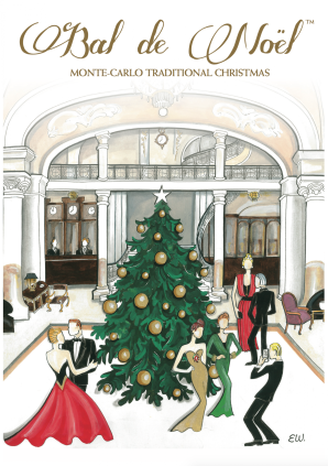 Visual of the invitation of the Christmas Ball 2016 designed by Elizabeth Wessel @BNMC