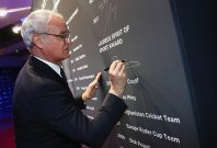 MONACO - FEBRUARY 14: Leicester City manager Claudio Ranieri writes his name on the winners board after receiving the Laureus Spirit of Sport award during the 2017 Laureus World Sports Awards at the Salle des Etoiles,Sporting Monte Carlo on February 14, 2017 in Monaco, Monaco. (Photo by Matthew Lewis/Getty Images for Laureus) *** Local Caption *** Claudio Ranieri