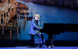 Famous Italian singer Richard Cocciante performing at the Grand Masked Ball of Venice in Monte-Carlo 2017 @Iulian Giurca
