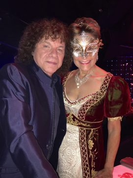 Richard Cocciante and Celina Lafuente de Lavotha at the Grand Masked Ball of Venice in Monte-Carlo