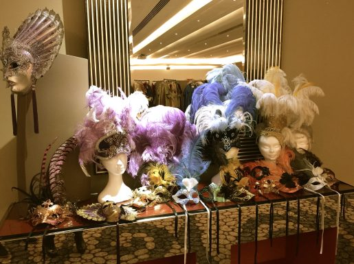 Beautifully decorated masks and hats for the Grand Ball of Venice in Monte-Carlo 2017 @CelinaLafuentedeLavotha