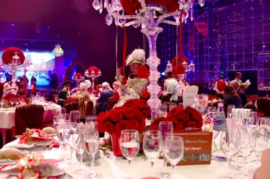 Beautifully decorated tables at the Grand Masked Ball of Venice in Monte-Carlo 2017 @Iulian Giurca