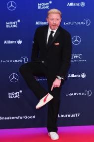 MONACO - FEBRUARY 14: Laureus Academy member Boris Becker attends the 2017 Laureus World Sports Awards at the Salle des Etoiles,Sporting Monte Carlo on February 14, 2017 in Monaco, Monaco. (Photo by Eamonn M. McCormack/Getty Images for Laureus) *** Local Caption *** Boris Becker