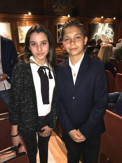 Amelie-Rose Sastre (young Sofia) and Lucas Crapanzano (young Matt) @CelinaLafuentedeLavotha
