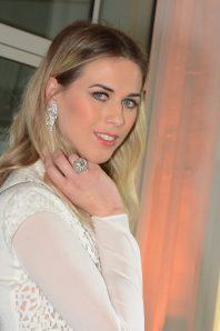 Model wearing Akris and Piaget Jewellerycopyright ©cotemagazine.com
