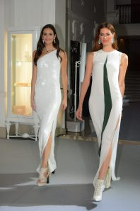Models in Akris gowns wearing Piaget fineJewellery copyright ©cotemagazine.com