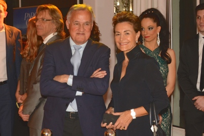 Zsolt and Celina Lavotha at the Akris-Piaget fashion show copyright ©cotemagazine.com