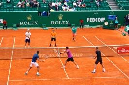 Mischa Zverev, David Goffin, Dominic Thiem opposite Marin Cilic, Grigor Dimitrov and Tomas Berdych @CelinaLafuentedeLavotha