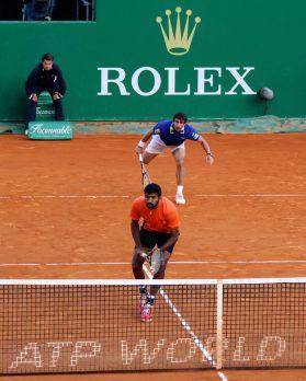 Pablo Cuevas and Rohan Bopanna MCRM17@CelinaLafuentedeLavotha