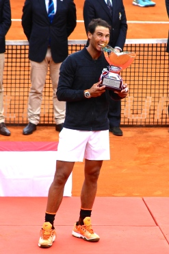 Rafael Nadal with his 10th trophy at the Monte-Carlo Rolex Masters MCRM 2017 @CelinaLafuentedeLavotha