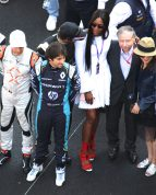Naomi Campbell with John Todt and his wife at the Monaco ePrix @CelinaLafuenteDelavotha