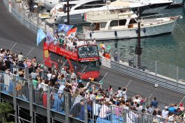 The E-pilots parade before the race in Monaco @CelinaLafuentedeLavotha