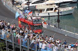 The E-pilots parade before the race in Monaco @CelinaLafuentedeLavotha
