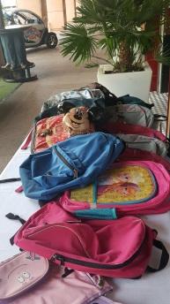 2016 School Bags donations @StarsN'Bars