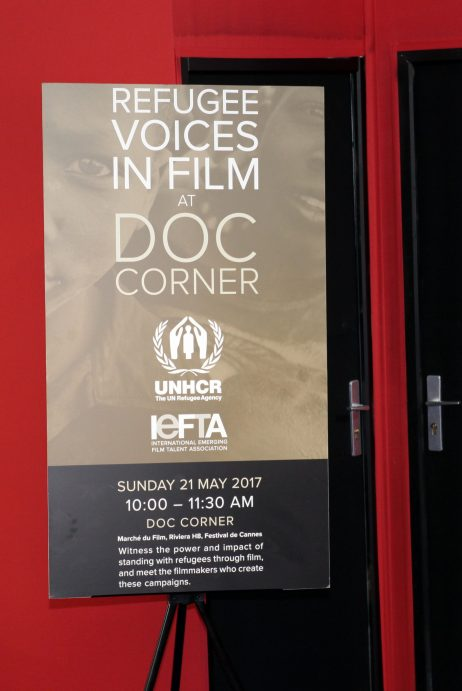 2017 IEFTA Refugee Voices in Film DOC Corner Cannes 70. Photo by KaidiPhotography