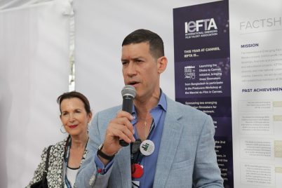 Carole Davis and Marco Orsini of IEFTA at 2017 IEFTA Dhaka to Cannes