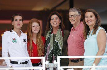 Charlotte Casiraghi,Jennifer Gates,H.R:H.Princess Caroline of Hannover,Bill and Melinda Gates @Stefano Grasso/LGCT