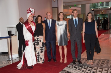 HSH Prince Albert, HRH Princess Caroline of Hanover, HSH Princess Stephanie, Andrea Casiraghi with wife Tatiana Casiraghi and Manel Dalgo at previous FAM fundraising gala @FAM