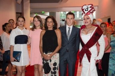 HSH Princess Stephanie and her children Pauline, Camille and Louis, and Manel Dalgo at previous fundrasing Gala @FAM