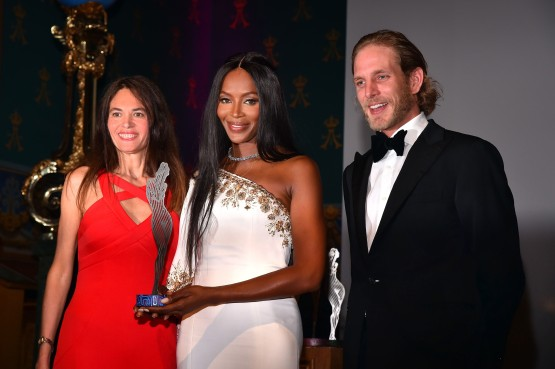 International Fashion Award to Naomi Campbell MCFW2017 Naomi Campbell with Federica Nardoni Spinetta and Andrea Casiraghi @Bruno Bebert - BestImage