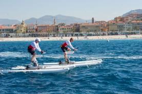 Prince Albert and David Coultlhard waterbiking @ Eric Mathon and Axel Bastello : Palais Princier