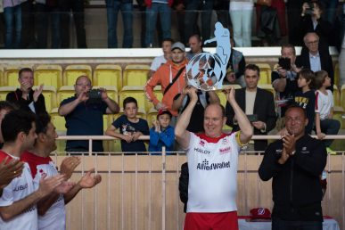Prince Albert holding the trophy for the A.S. Star Team 2017 Copyright:A.S Star Team for the Children - J.M Follete
