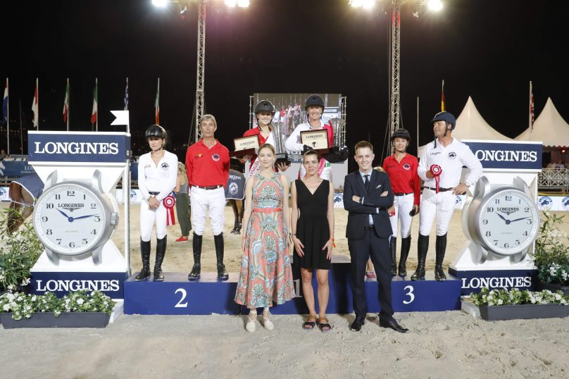 The podium of the Longines Pro Am Cup @Stefano Grasso/LGCT