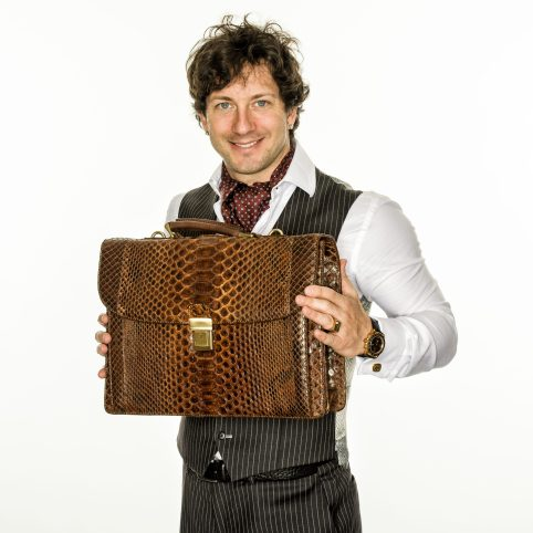 Vittorio Cucci Ryan with Professional Man LIne Phython Briefcase