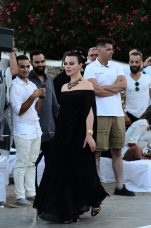 American actress Deborah Mazar on the runway @Vivi Kaparou