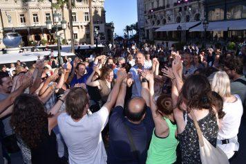 Dancing La Tarantela with music by Antonio Castrignano and his Orchestra des Pouilles ©Charly Gallo - Manuel Vitali : Direction de la Communication