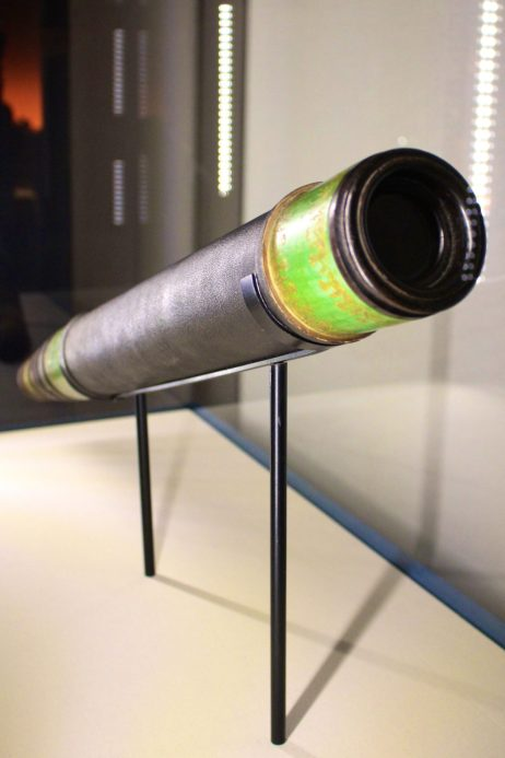 Italian astronomical telescope, Boxwood, glass, cardboard, Observatoir de Marseille @CelinaLafuentedeLavotha