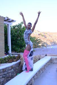 Long Pink boots@Vivi Kaparou