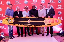 Lifesaving South Africa Launch ceremony for the handover of the Malibu boards to the various representatives from Lifesaving clubs. The event took place at Beverley Hills in uMhlanga in Durban