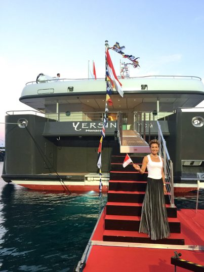 Visiting the Yersin docked at the Yacht Club of Monaco @Sara Contestabile