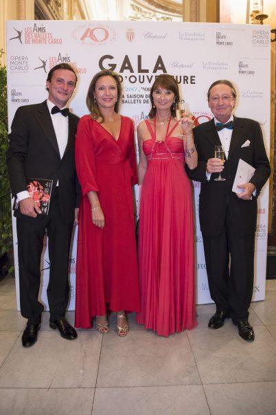 Count Quentin d'Ursel, Nancy Dotta (Amis des Ballets de MC), Marianne and Paul-Marie Jacques, President Amis de l'Opera @Alice Blangero