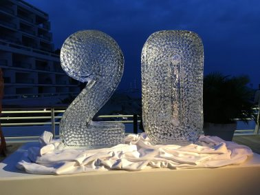 Giant ice sculpture by Mario Amegee