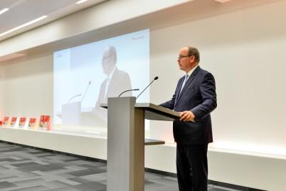 HSH Prince Albert II of Monaco during his discourse @Valentina de gaspari