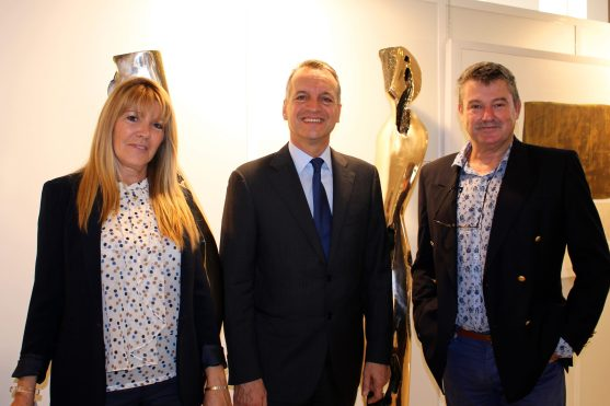 Joelle Lallemand, Mayor of Monaco Georges Marsan and Yvon Kergal @CelinaLafuentedeLavotha