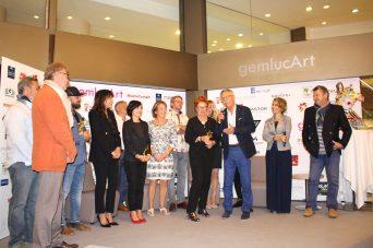 Laureats GemlucArt 2017 with Laurence Garbatini and Yvon Kergal @CelinaLafuentedeLavotha