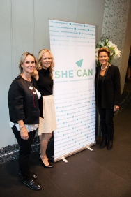 Nathalie Amorati-Blanc, Vibeke Brask Thomsen and Celina Lafuente de Lavotha at SHE-HE CAN @Annette Linardatos
