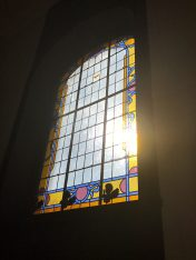 Stained glass window at Domaine de Biar @CelinaLafuentedeLavotha