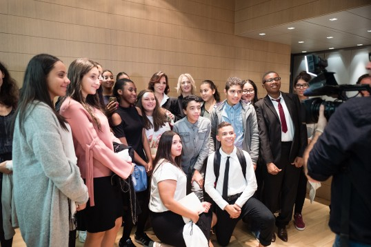 Students from the College Maurice in Nice, France who received a Special Mention @valentina de gaspari