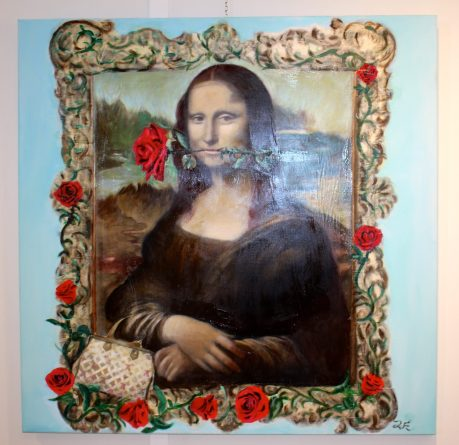 The red rose smile of Mona Lisa by Ionna Efthimiou, Greece @CelinaLafuentedeLavotha
