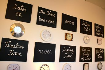 Installation about Time by Ben @CelinaLafuentedeLavotha