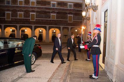 The Duke of York arriving at the Palace @Palais Princier Monaco Facebook