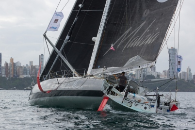 4th place in Imoca category for Malizia II, skippers Boris Herrmann and Thomas Ruyant, during arrivals of the duo sailing race Transat Jacques Vabre 2017 from Le Havre (FRA) to Salvador de Bahia (BRA), on November 20th, 2017 - Photo Jean-Marie Liot / ALeA / TJV17