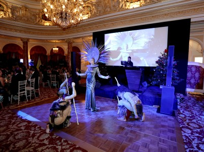 Entertainers brought the Jungle theme of the Bal de Noel 2017 @ Laurent Ciavaldini BdN2017