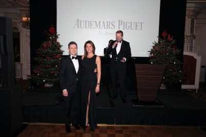 Erik Paolino and Virginie Fante from Audemars Piguet with Sandrine Knoell-Garbagnati @Laurent Ciavaldini