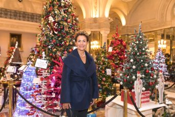 Monaco Reporter at the enchanted forest of Christmas Trees to be auction for Action Innocence @Philippe Fitte